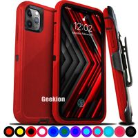 For iPhone 12 Mini 11 11 Pro Max Shockproof Rugged Cover Case with Belt Clip $9.49