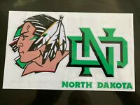 UND FIGHTING SIOUX HOCKEY AUTO VINYL DECAL 10quot;X6quot; FREE SHIPPING