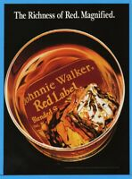 1994 Johnnie Walker Red Label Scotch On Ice Richness Magnified Magazine Print Ad