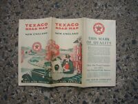 1930 Texaco Vintage Road Map NEW ENGLAND STATES GREAT SHAPE CHECK 12 PICS