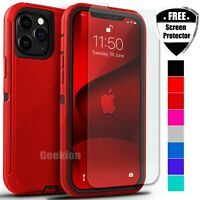 For Apple iPhone 12 Mini 11 Pro Max Shockproof Rugged Case Screen Protector $8.49