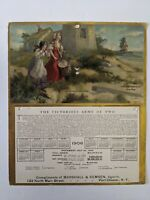 Antique 1906 Calendar Ad Victorious Army Two Marshall amp; Remsen Port Chester NY