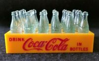 Vintage Coca Cola Miniature Bottles and Plastic Crate Advertising