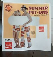 Pre 1963 Coca Cola Cardboard Sign for Summer Put ons Coke Attire Special Offer