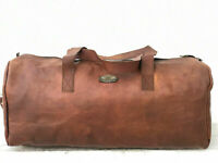 Men#x27;s Lightweight Duffel Travel Gym Luggage Weekender Large Bag GVB 24quot; Leather