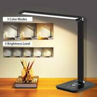 Touch Control LED Desk Lamp with Wireless Charger Eye Caring Table Lamp $30.50