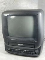 Philips TV VCR Combo Retro Gaming Vintage Color 9quot; Travel Tested Ccb092at01 $89.96