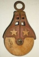 Vintage Starline X815 Barn Pulley Double Star Model Original Paint Nice Patina