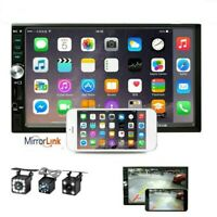 7quot; 2 DIN Car Stereo Bluetooth Radio Touch Screen USB AUX IN MP5 Player Camera $58.99