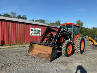 2003 Kubota M9000 4x4 90Hp Farm Tractor w Cab amp; Loader Only 2500 Hours