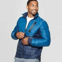 Men#x27;s C9 Champion Size Small Puffer Jacket Lightweight in Jetson Blue Navy NEW