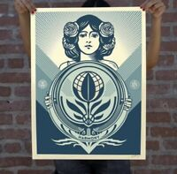 """OBEY """"Protect Biodiversity Cultivate Harmony"""" Screen Print Signed Numbered 500 $170.00"""