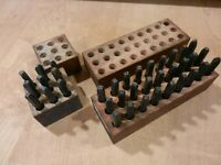 Vintage Sets of Machinist Steel Punches Alphabet and Numbers. 1 4quot; Steel Punches