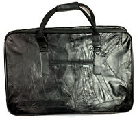 Vintage Suitcase Luggage Briefcase Bag Patchwork Leather Soft Sided 24x16x5.5