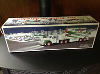 New 2002 Hess Truck, Toy Truck and Airplane, in original box.