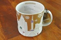 US SELLER - New 2014 Starbucks Coffee Christmas X'mas Relief Mug SHANGHAI China