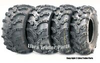 Set of 4 Premium ATV Tires 25x8-12 Front 25x10-12 Rear 6PR Ultra Deep Tread Mud
