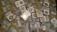 US Coin Collection PCGS NGC Silver 100 Year Old BU Coins GRAB BAG BUDGET LOT