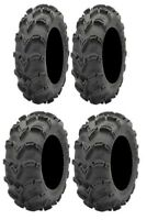 Full set of ITP Mud Lite XL 26x10-12 and 26x12-12 ATV Tires (4)