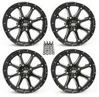 STI HD4 ATV Wheels/Rims Black 12