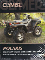 2002-2010 Polaris Sportsman 600 700 800 ATV Clymer Service Workshop Manual M366