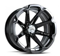 MSA M12 Diesel ATV Wheel - Gloss Black [14x7] +10mm, 4/156 [M12-04756]