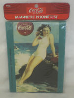 COCA COLA MAGNET COKE MAGNETIC PHONE LIST CLASSIC SWIMSUIT AD NEW SEALED