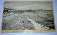 VINTAGE 1906 SINGER SEWING TRADE CARD BATHING SCEND AT CONEY ISLAND