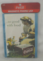 COCA COLA MAGNET COKE MAGNETIC PHONE LIST CLASSIC AD PICNIC NEW AND SEALED