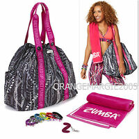 Zumba Tote Bag Duffel GIFT SET +Towell+KeyRing+Bacelets for Gym