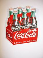 Coca Cola 6 Pack Embossed Magnet by Ande Rooney