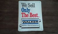 VINTAGE WALKER MUFFLERS & PIPES TIN SIGN 24