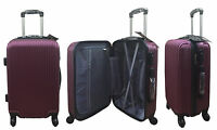 20quot; 24quot; 28quot; Hard Shell Suitcase Set 4 Wheel Luggage Spinner Lightweight MAROON