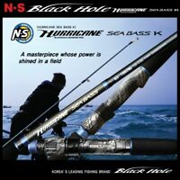 NS RODS BLACK HOLE SALTWATER SPINNING ROD HURRICANE SEA BASS K QUIDE