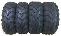 Set of 4 New ATV UTV Tires 25x10-12 Front 25x11-12 Rear 6PR 10244 10253 P373 Mud