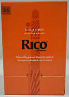 RICO TRADITIONAL Bb CLARINET REEDS, 50 COUNT PACKAGE, STRENGTH #2.5