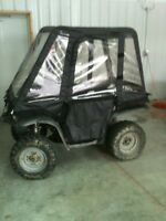 ATV Full Cab Cover Enclosure Black 70