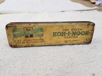 1940's VINTAGE L&C HARDTMUTH LTD. KOHINOOR PENCIL TIN BOX, BRITISH MADE