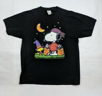 1c71596f23 Vtg Snoopy Woodstock Halloween Graphic Shirt Black Large USA
