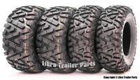 Set 4 WANDA ATV tires 24x8-12 24x8x12 & 25x11-10 25x11x10 P350 Deep Tread Mud