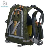 Fly Fishing Backpack Adjustable Size Mesh Fishing Vest Pack Water Resistant US