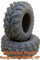 Set 2 front ATV Tires 26x9-12 for 14-17 Polaris Ranger 900 CREW/XP