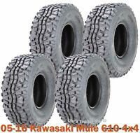 Full Set ATV Tires 24x9-10 & 24x11-10 for 05-16 Kawasaki Mule 610 4x4