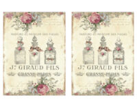 Vintage Image French Perfume Labels Furniture Transfer Waterslide Decals MIS650