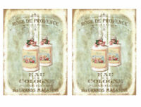 Vintage Image French Perfume Labels Furniture Transfer Waterslide Decals MIS651
