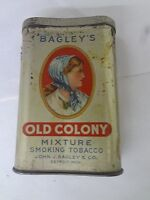 VINTAGE ADVERTISING BAGLEY#x27;S OLD COLONY TOBACCO VERTICAL POCKET TIN G 158