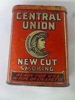 VINTAGE ADVERTISING CENTRAL UNION TOBACCO VERTICAL POCKET TIN 246 F
