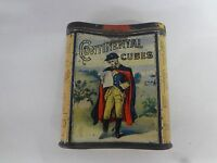 VINTAGE ADVERTISING TOBACCO CONTINENTAL CUBES VERTICAL POCKET TIN 722