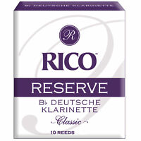 Rico Reserve Classic German Bb Clarinet Reeds, Strength 3.0, 10-pack