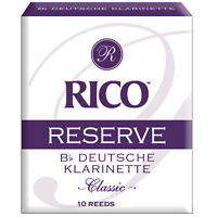 Rico Reserve Classic German Bb Clarinet Reeds, Strength 1.5, 10-pack